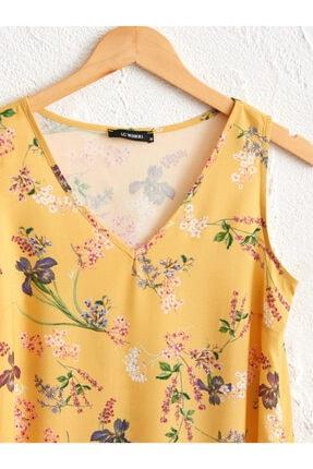 LC Waikiki Kadın Sarı Baskili  Bluz 2