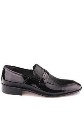 Calvano Hakiki Deri Siyah Erkek Klasik Ayakkabı 1
