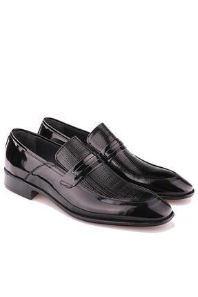 Calvano Hakiki Deri Siyah Erkek Klasik Ayakkabı 4