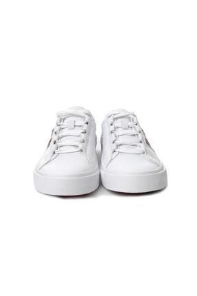 Tommy Hilfiger Beyaz Erkek Oxford/ayakkabı Fm0fm01943 100 Corporate Leather Low Sneaker Low Cut Whıt 3