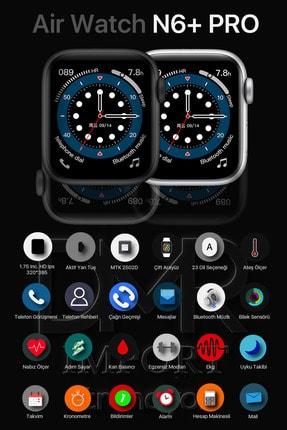 AirWatch N6+ Pro Akıllı Saat Suya Dayanıklı Ateş Ve Nabız Ölçer Çok Fonksiyonlu Ios Ve Android Uyumlu 2
