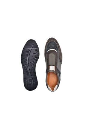 Nevzat Onay Hakiki Deri Haki Günlük Sneaker Erkek Ayakkabı -11374- 2