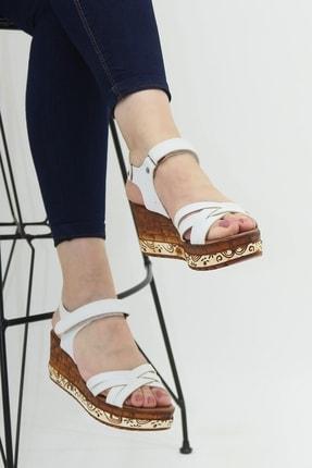 Ayax 714002 Beyaz Kadın Sandalet 0