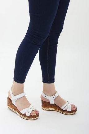 Ayax 714002 Beyaz Kadın Sandalet 1
