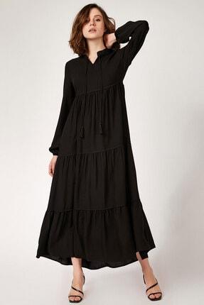 Bigdart 1627 Yaka Bağcıklı Tesettür Elbise 0