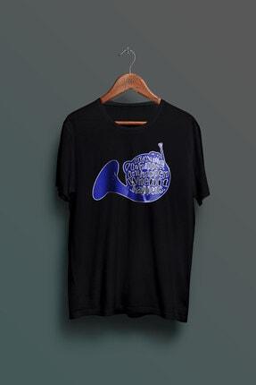 Nkys Moda Himym Mavi Korna Baskılı Unisex Tshirt 0