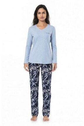 1001 V Yaka Kışlık Bayan Pijama Takım resmi
