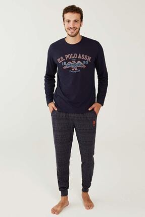 US Polo Assn Yuvarlak Yaka Erkek Pijama Takım 18255 0