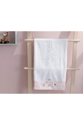 English Home Lama Pamuklu Bebe Banyo Havlusu 70x130 Cm Beyaz 0