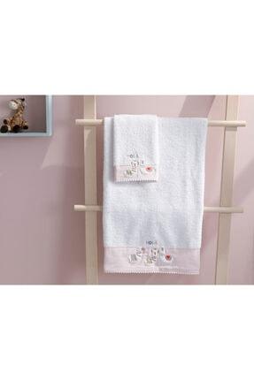 English Home Lama Pamuklu Bebe Banyo Havlusu 70x130 Cm Beyaz 2