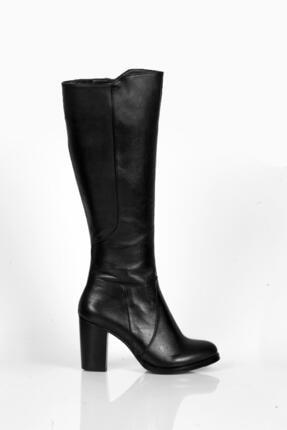 Deripabuc Hakiki Deri Siyah Kadın Deri Çizme Dp02-3086 1