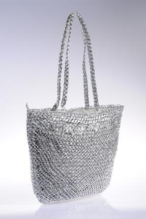 Sergio Giorgianni Luxury Sghsr1014 Gümüş Kadın Omuz Çantası 0