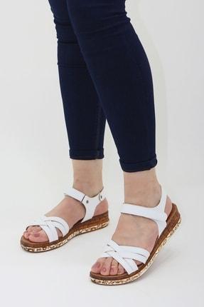 Ayax 614002 Beyaz Kadın Sandalet 1