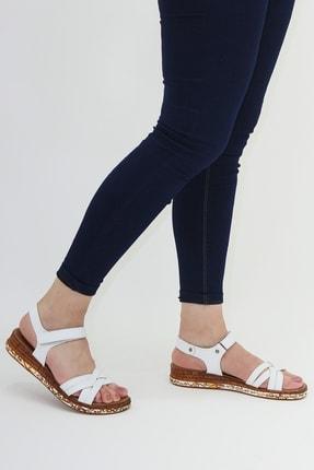 Ayax 614002 Beyaz Kadın Sandalet 2