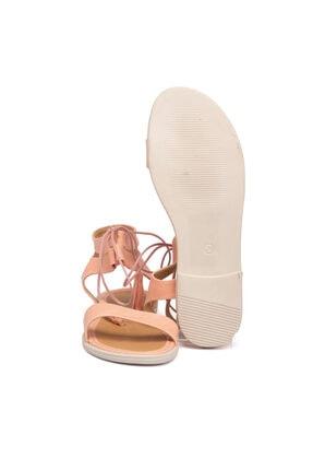 Tergan Pembe Vegan Kadın Sandalet 210138q2q 3