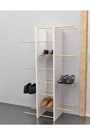Bayz Tasarım Kapıönü Ayakkabılık Antre Raf Terlik Ayakkabı Dolabı 0