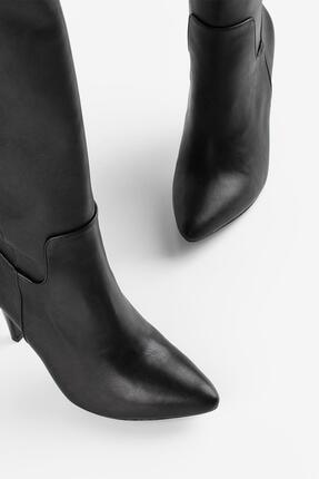 Gökhan Talay Ince Topuk Siyah Kadın Çizme 3