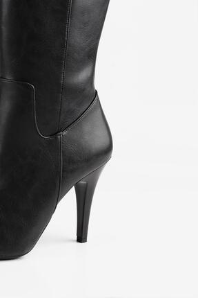 Gökhan Talay Ince Topuk Siyah Kadın Çizme 4