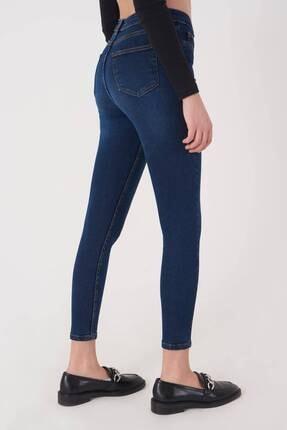 Addax Kadın Koyu Kot Rengi Cep Detaylı Jean Pantolon Pn12181 - Pnj ADX-0000023379 4