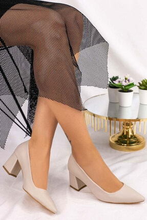 karazona Kadın Cilt Topuklu Topuklu Ayakkabı 0