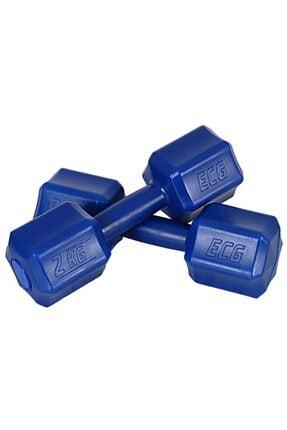 ECG Spor 2 Kg X 2 Adet 4 Kg Dambıl Seti 4 Kg Dumbell Set (Mavi) 1