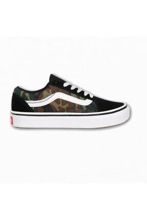 Vans Uy Comfycush Old Skool Woodland Camo Unisex Çocuk Sneaker 0