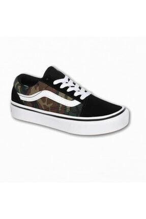 Vans Uy Comfycush Old Skool Woodland Camo Unisex Çocuk Sneaker 1