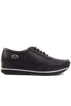 تصویر از - Siyah Bağcıklı Kadın Günlük Ayakkabı