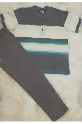 Haluk Bayram Baha 2362 Çizgili Altı Uzun Erkek Pijama Takımı 0