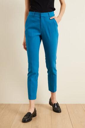 adL Kadın Mavi Paçası Yırtmaçlı Cepli Pantolon 1