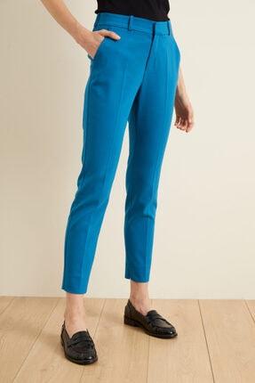 adL Kadın Mavi Paçası Yırtmaçlı Cepli Pantolon 3