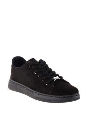 Bambi Siyah Süet Kadın Sneaker K0664320065 2