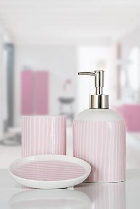 İrya Lili 3 Parça Banyo Seti Pembe 0