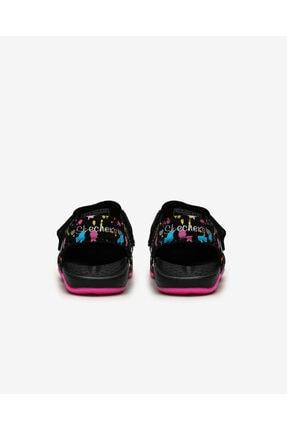 Skechers SIDE WAVE - Büyük Kız Çocuk Siyah Sandalet 3