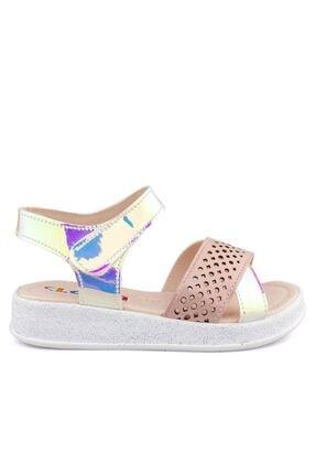 Pudra Ayna Ortopedik Kız Cocuk Sandalet 111401K