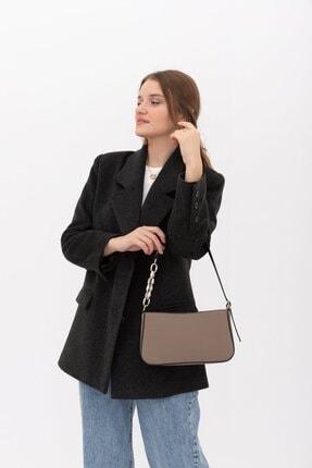 Yarı Zincir Askılı Baget Çanta Reneta Vizon resmi