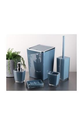 GÖNÜL Akrilik 5 Parça Çöp Kovalı Banyo Seti - Banyo Takımı 0