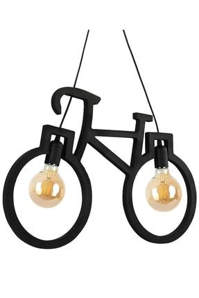 Bundera Wooden Bisiklet Sarkıt Avize Lüks Rustik Modern Dekoratif Lamba 1