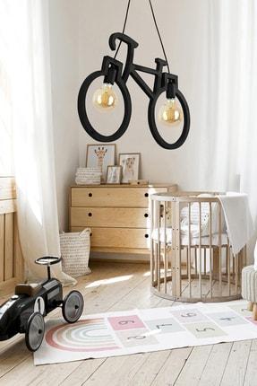 Bundera Wooden Bisiklet Sarkıt Avize Lüks Rustik Modern Dekoratif Lamba 2