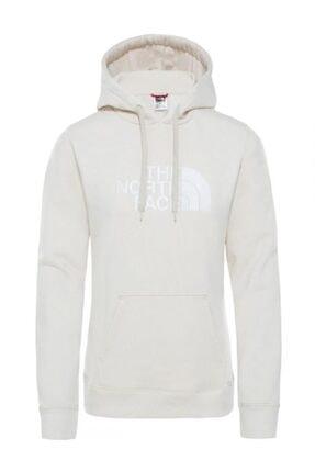The North Face Drew Peak Pullover Hoodie Kapüşonlu Kadın Sweatshirt Beyaz 0