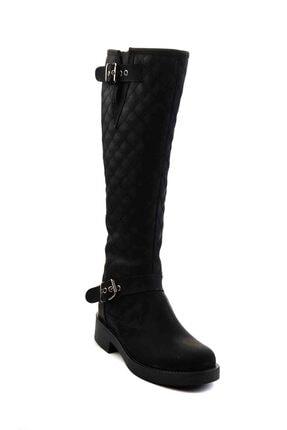 Bambi Siyah Kadın Çizme M0510440109 3