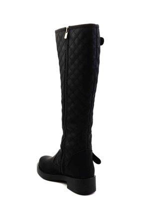 Bambi Siyah Kadın Çizme M0510440109 4
