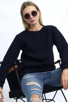 Deafox Lacivert Kadın Üç Iplik Sweatshirt 0
