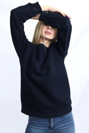 Deafox Lacivert Kadın Üç Iplik Sweatshirt 2