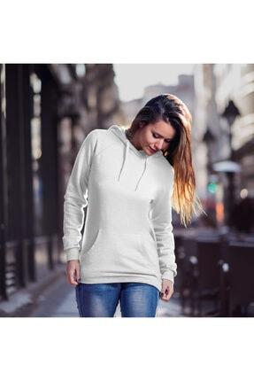 Fandomya Yılbaşı Quarantine Beyaz Kapşonlu Hoodie Sweatshirt 1