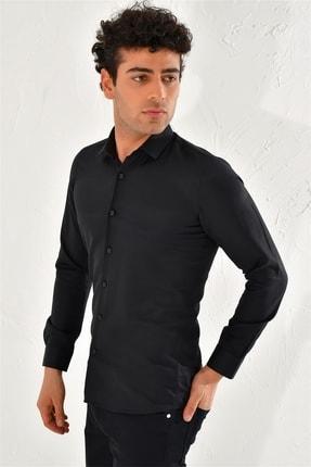 Efor Gk 572 Slim Fit Siyah Klasik Gömlek 1