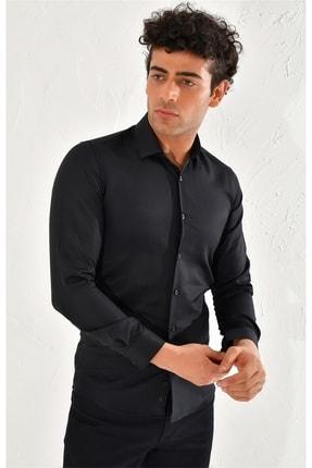 Efor Gk 572 Slim Fit Siyah Klasik Gömlek 2