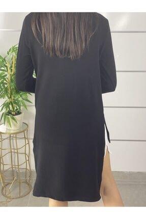 ELBİSENN Yeni Model Kadın Omuz Dekokletli Ikili Takım Elbise (Siyah) 2