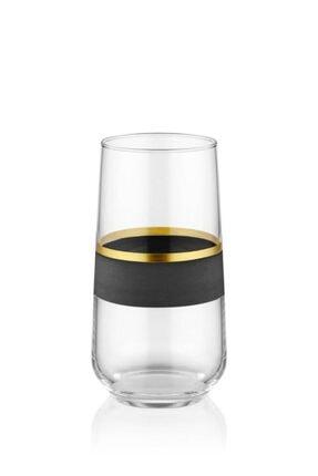 The Mia Glow Cam 6'lı Meşrubat Bardağı Siyah-gold Glw0002 1