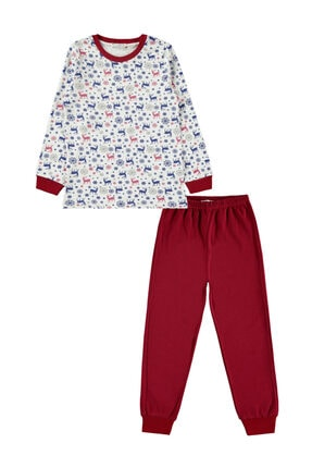 Picture of Erkek Çocuk Pijama Takımı 6-9 Yaş Bordo